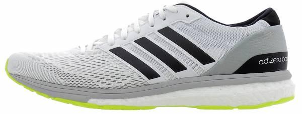 Adidas Adizero Boston Boost 6 White/Silver/Yellow