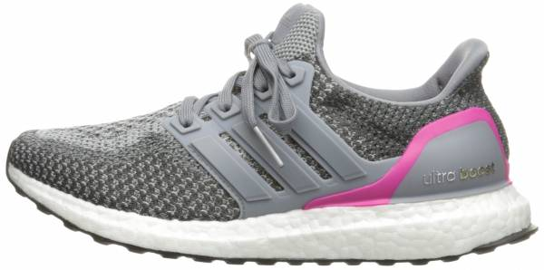 Adidas Ultra Boost woman grau (grey/grey/shock pink)