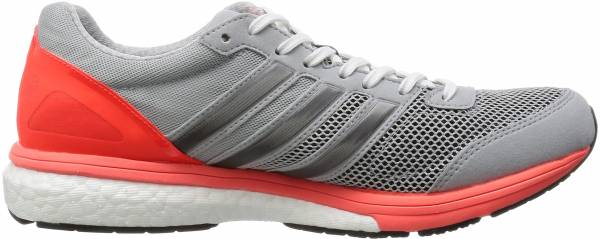 new concept a5ccf 90d03 Adidas Adizero Boston Boost 5 Clear Onix Grey GreyBlackSolar Red