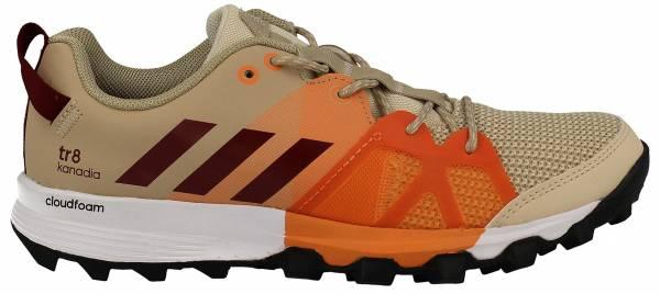 Adidas Kanadia 8 woman linen/col. burgundy/glow orange