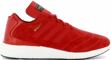 Adidas Busenitz Pure Boost - Scarlet White Suede