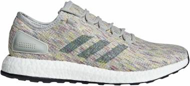 Adidas Pureboost - ash silver/raw green/shock yellow (AQ0051)