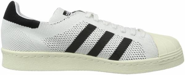 Adidas Superstar 80s Primeknit sneakers in white black (only $80)
