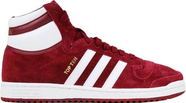 Adidas Top Ten Hi Collegiate Burgundy White Collegiate Burgundy 5d6ca73b7