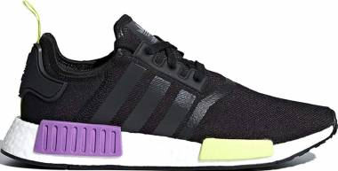 0c3ca11580102 Adidas NMD R1 Black Black Shock Purple Men
