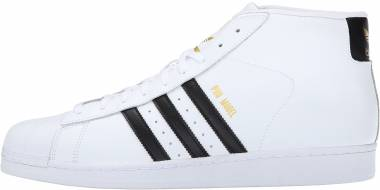 Adidas Pro Model - White Black White