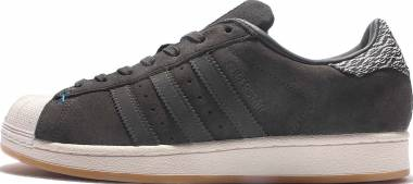 Adidas Superstar - Dark Grey Heather Solid Grey/Dark Grey Heather Solid Grey/Unity Blue (B27573)