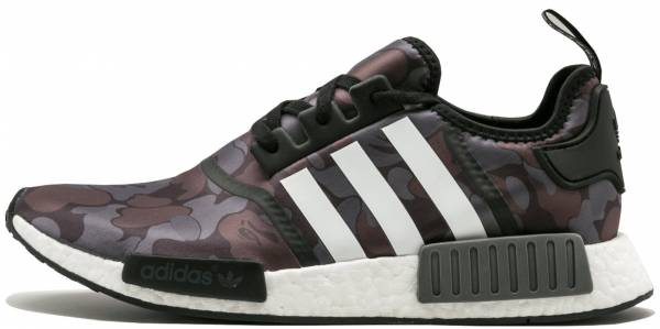 BY1911 Adidas Men NMD R1 Primeknit Glitch Camo White Black