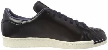 Shop Adidas Men's Superstar 80s Clean BlackBlack Off White