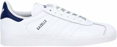 Adidas Gazelle Leather - Blanc Blanc Bleu Foncã (FU9487)