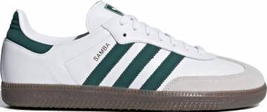 Adidas Samba OG - White, Green, Ecru (B75680)