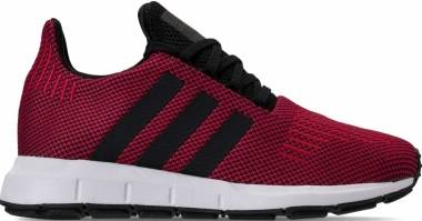 Adidas Swift Run - Black, Red, & White (B37735)