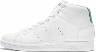 buy popular 6000f 47599 Adidas Stan Smith Mid Bianco (Ftwbla Ftwbla Verde) Men