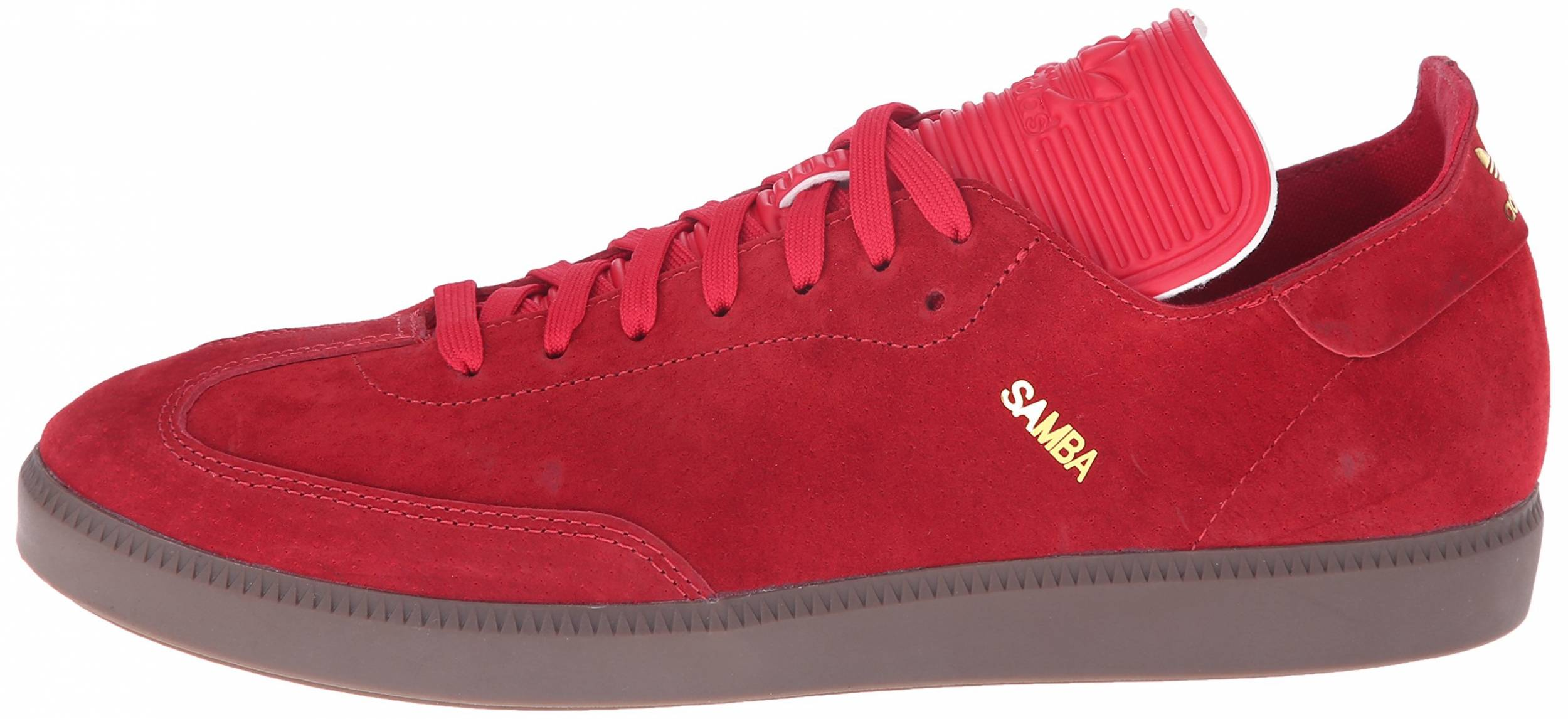 General Están familiarizados Atravesar  Adidas Samba MC Leather sneakers in red | RunRepeat