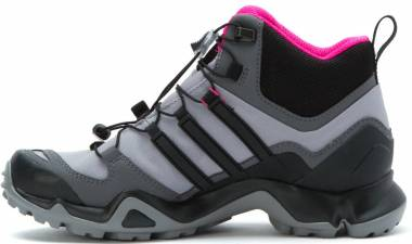 Adidas Terrex Swift R Mid GTX - Multicolore - Rose/Granite/Noir (Shock Pink, Granite, Black)