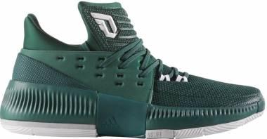 Adidas D Lillard 3 - Dark Green White Grey