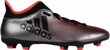 Adidas X 17.3 Firm Ground - Grey/Core Black/Real Coral