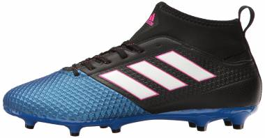 Adidas Ace 17.3 Firm Ground - Black Core Black Ftwr White Blue (BA8505)