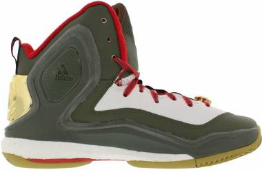 Adidas D Rose 5 Boost Green/White/Red Men