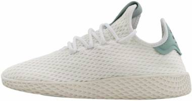Pharrell Williams Tennis Hu - White/Green (BY8716)