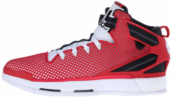 9f341eda471 Adidas D Rose 6 Boost Red   White   Black (Scarlet   Ftwbla   Negbas