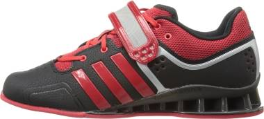 Adidas AdiPower Weightlifting Shoes - Black/Light Scarlet/Tech Grey/Metallic S (M21865)