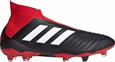 Adidas Predator 18+ Firm Ground - Black/White/Red