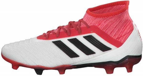 Adidas Predator 18.2 Firm Ground - White/Core Black/Real Coral