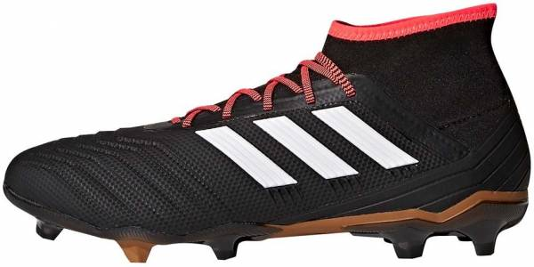 low priced 18771 4f240 Adidas Predator 18.2 Firm Ground Core Black White Solar Red