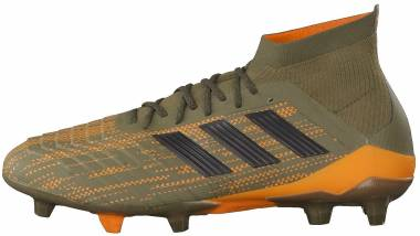Adidas Predator 18.1 Firm Ground - Brown (Trace Olive/Core Black/Bright Orange Trace Olive/Core Black/Bright Orange)