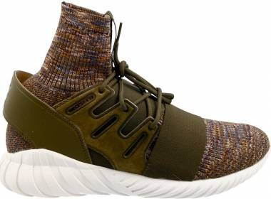 Adidas Tubular Doom Primeknit Trace Olive/Mystery Brown/Crystal White Men