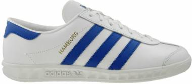 Adidas Hamburg - White White Bold Blue Gold Metalic