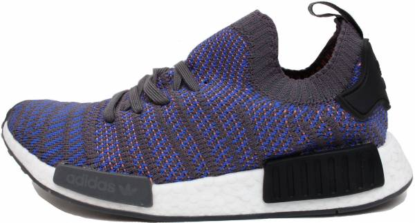 reputable site 17fb2 ab67a Adidas NMD R1 STLT Primeknit Hi-res Blue Black Coral