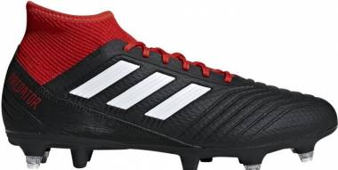 Adidas Predator 18.3 Soft Ground - Black Cblack Ftwwht Red Cblack Ftwwht Red (BB7749)