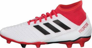 Adidas Predator 18.3 Firm Ground White/Core Black/Real Coral Men