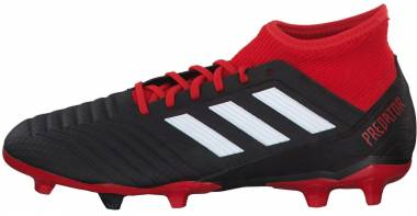 Adidas Predator 18.3 Firm Ground - Black (Cblack/Ftwwht/Red Cblack/Ftwwht/Red)