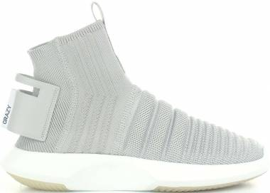 Adidas Crazy 1 ADV Sock Primeknit - Light Grey/White