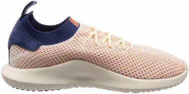 Adidas Tubular Shadow Primeknit - White/Orange/Navy (AC8793)