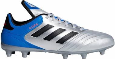 Adidas Copa 18.3 Firm Ground - Silver Metallic/Black/Football Blue (DB2463)