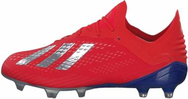 Adidas X 18.1 Firm Ground - Active Red/Silver Metallic/Bold Blue (BB9347)