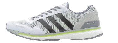 Adidas Adizero Adios Boost 3.0 - White/Trace Grey Metallic/Solar Yellow (BB3313)