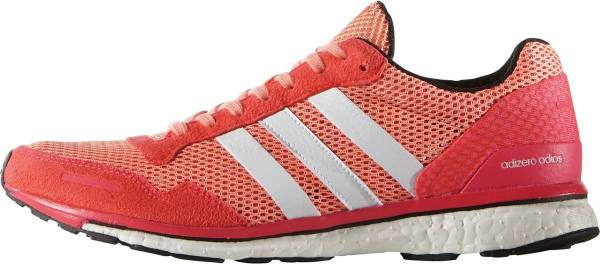 Adidas Adizero Adios Boost 3.0 woman sun glow/white/shock red
