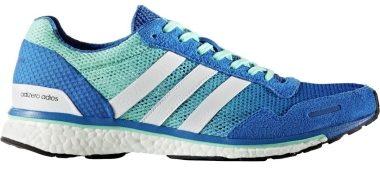 Adidas Adizero Adios Boost 3.0 - Bleu Blue Ftwr White Easy Green (BA7949)
