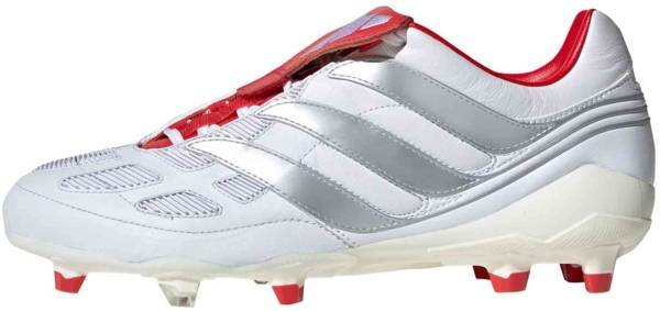 Adidas Predator Precision Firm Ground - Footwear White/Silver Metallic/Predator Red (F97223)