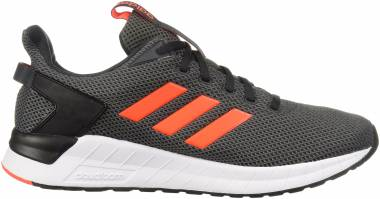 Adidas Questar Ride - Carbon Solar Red Grey Four