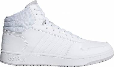 Adidas Hoops 2.0 Mid - White/Ink/Scarlet (F34813)