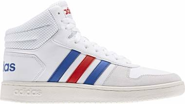Adidas Hoops 2.0 Mid - Bianco Ftwr White Blue Active Red Ftwr White Blue Active Red