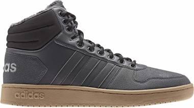 Adidas Hoops 2.0 Mid - Grey Grey Five Grey Five Core Black Grey Five Grey Five Core Black (EE7373)