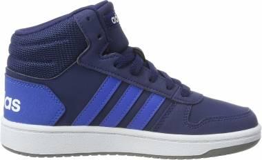 Adidas Hoops 2.0 Mid - Blau Dark Blue Blue Footwear White 0 (EE6707)