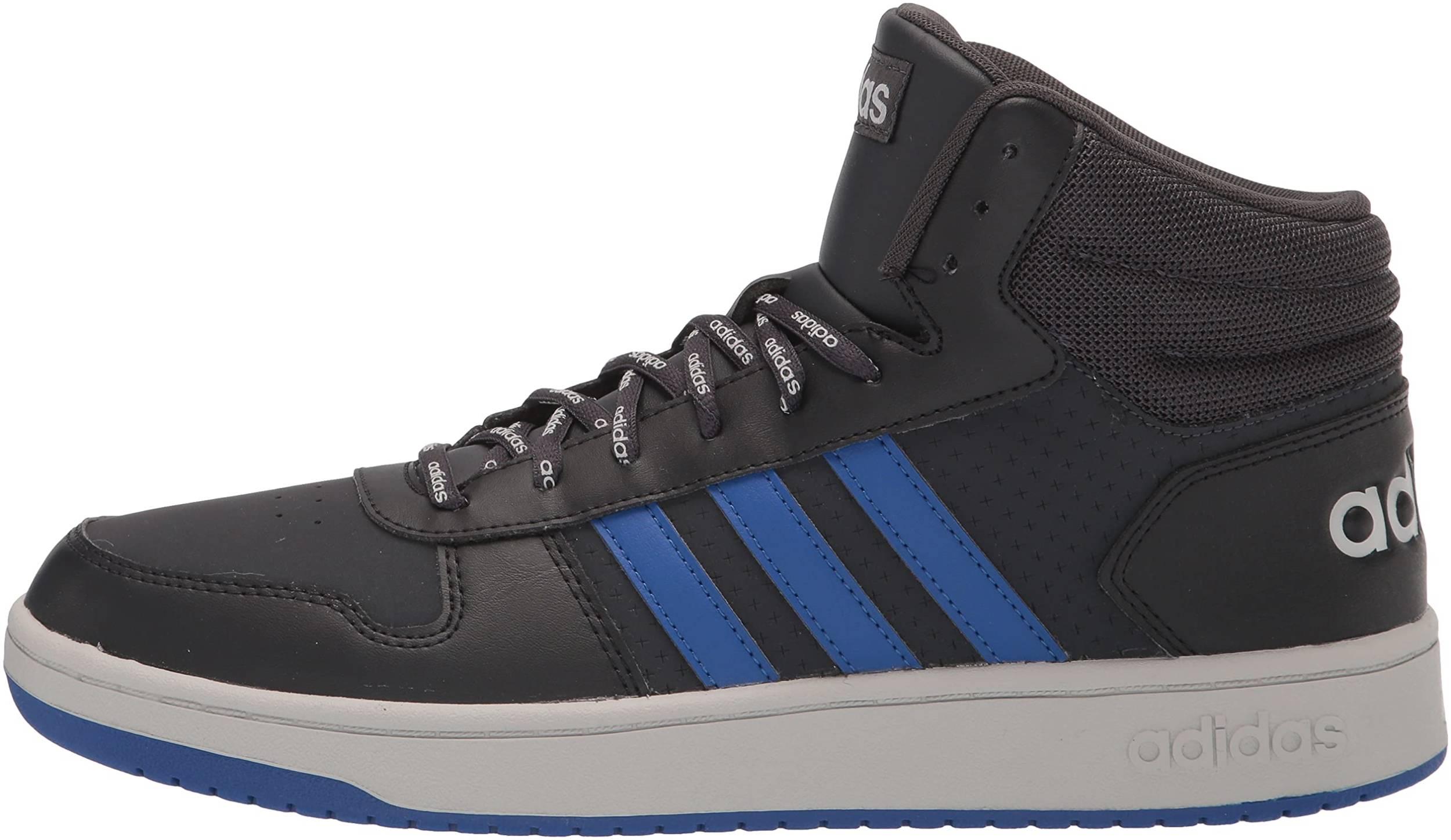 Adidas Hoops 2.0 Mid sneakers in 10 colors (only £32) | RunRepeat